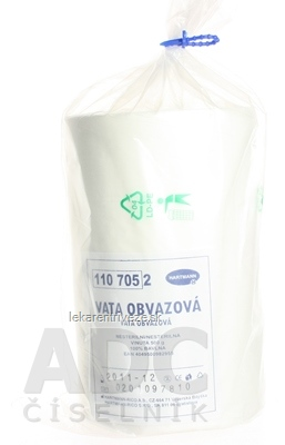 VATA OBVÄZOVÁ vinutá, nesterilná, bavlna 1x500 g