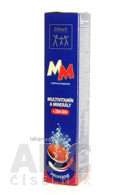 Zdrovit MULTIVITAMÍN + MINERÁLY + ŽEN-ŠEN tbl eff (šumivé tablety) 1x24 ks