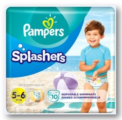 PAMPERS SPLASH JUNIOR 5-6 detské plienky na plávanie (od 14 kg +) 1x10 ks