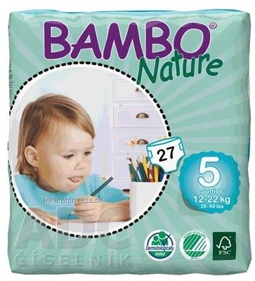 BAMBO JUNIOR 5 (12-22 kg) detské plienky priedušné, savosť 1200 ml 1x27 ks
