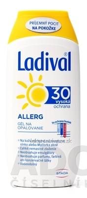 Ladival ALLERG SPF 30 gél na opaľovanie 1x200 ml