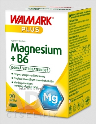 WALMARK Magnesium + B6 tbl 1x90 ks