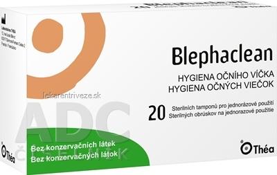 Blephaclean sterilné obrúsky 1x20 ks