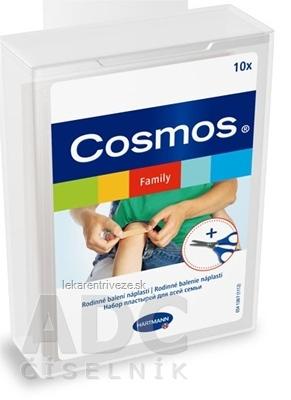 COSMOS Rodinné balenie (Family) náplasti 10 ks + nožnice, 1x1 set