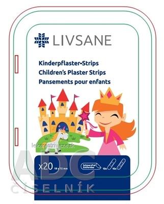 LIVSANE Náplasť detská prúžky Princezná 19x72 mm, 1x20 ks