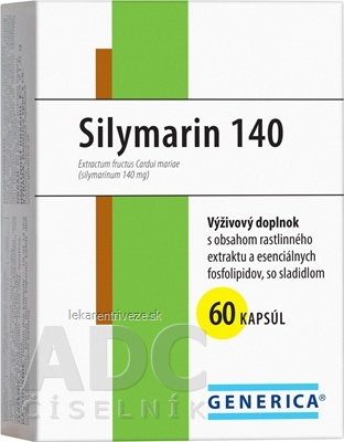 GENERICA Silymarin 140 cps 1x60 ks