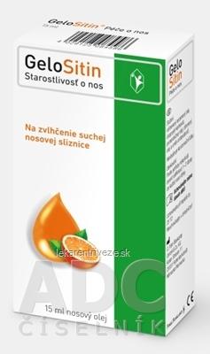 GeloSitin Starostlivosť o nos nosový olej 1x15 ml