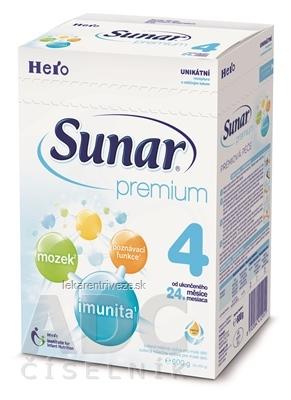 Sunar Premium 4 mliečna výživa (od ukonč. 24. mesiaca), 1x600 g