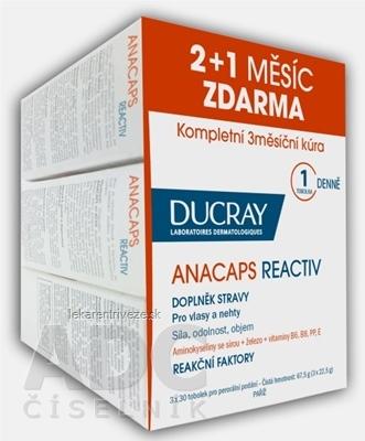 DUCRAY ANACAPS REACTIV (TRIO) cps pre vlasy a nechty 3x30 (90 ks), 1x1 set