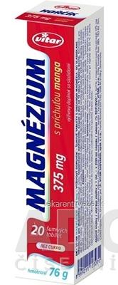 VITAR MAGNÉZIUM 375 mg tbl eff s príchuťou manga 1x20 ks