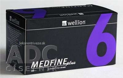 Wellion MEDFINE plus Penneedles 6 mm ihla na aplikáciu inzulínu pomocou pera 1x100 ks