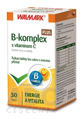 WALMARK B-komplex PLUS s vitamínom C tbl (žuvacie) 1x30 ks