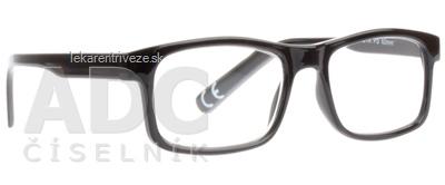 FGX Okuliare na čítanie Basic +2.5 D, Shiny black 1x1 ks