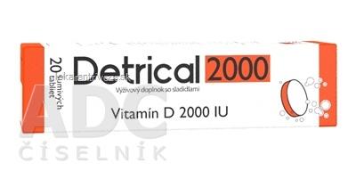 Detrical 2000 Vitamín D šumivé tablety 1x20 ks