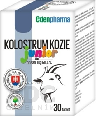 EDENPharma KOLOSTRUM KOZIE Junior tbl 1x30 ks