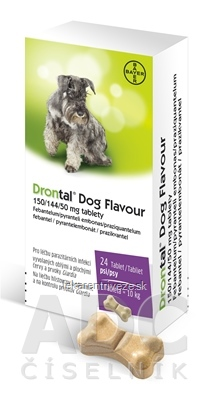 Drontal Dog Flavour 150/144/50 mg tablety tbl 6x4 ks (24 ks)