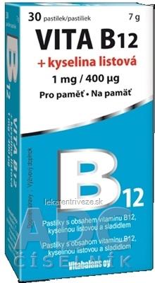 Vitabalans VITA B12 + kyselina listová (1 mg/ 400 mcg) pastilky 1x30 ks