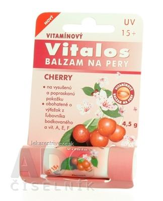 VITALOS Balzam na pery cherry SPF 15 vitamínový 1x1 ks