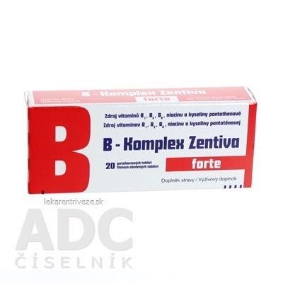 B-Komplex forte Zentiva tbl flm 1x20 ks