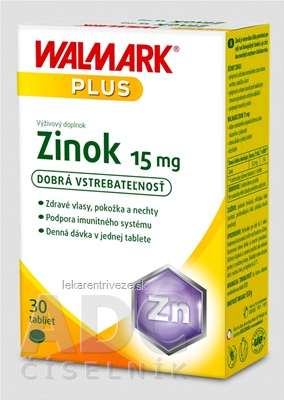 WALMARK Zinok 15 mg (inov. obal 2018) tbl 1x30 ks