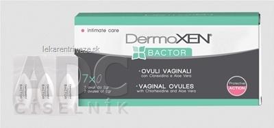 DermoXEN BACTOR vaginálne globule 1x7 ks