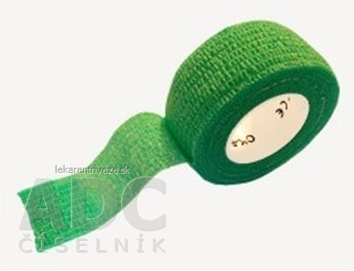 MEDIC Bandáž Finger Zelená 2,5cm x 4,5m, náplasť elastická (rýchloobväz), 1x1 ks