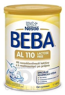 BEBA AL 110 Lactose Free plv (špeciálna výživa dojčiat, od narodenia) 1x400 g