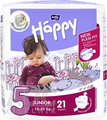 bella HAPPY 5 JUNIOR detské plienky (12-25 kg) 1x21 ks