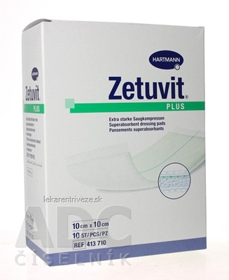 ZETUVIT Plus kompres nasiakavý sterilný (10x10 cm) 1x10 ks