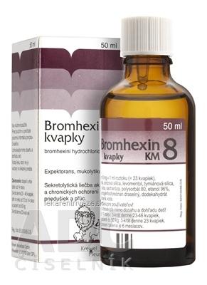 BROMHEXIN 8-KVAPKY KM sol por (liek.skl.hnedá) 1x50 ml