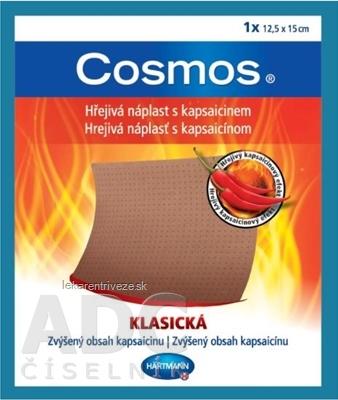 COSMOS Hrejivá náplasť s kapsaicínom KLASICKÁ (12,5x15 cm) 1x1 ks