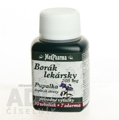 MedPharma BORÁK LEKARSKY 205 mg + PUPALKA cps 30+7 zadarmo (37 ks)