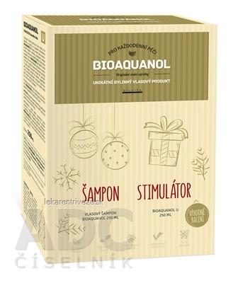 BIOAQUANOL vianočné balenie vlasový šampón 250 ml + stimulátor U 250 ml, 1x1 set