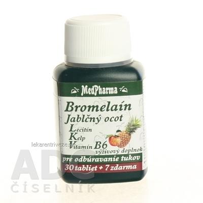 MedPharma BROMELAIN 300 mg + JABL.OCOT + LECITIN tbl 30+7 zadarmo (37 ks)