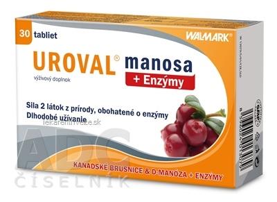 WALMARK UROVAL manosa + Enzýmy tbl 1x30 ks
