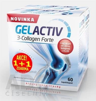 GELACTIV 3-Collagen Forte Akcia 1+1 cps 60+60 zadarmo (120 ks), 1x1 set