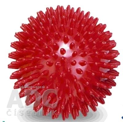 GYMY MASÁŽNA LOPTIČKA - ježko 9 cm červená, priemer 9 cm 1x1 ks
