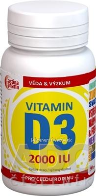 Astina Pharm Vitamín D3 2000 IU cps 1x90 ks