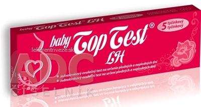 Baby Top Test LH ovulačný - 5 tyčinkový jednokrokový 1x5 ks