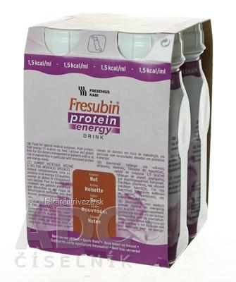 Fresubin Protein energy DRINK EasyBottle, príchuť oriešok, 4x200 ml (800 ml)