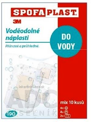 3M SPOFAPLAST č.190 Vodeodolné náplasti mix veľkostí, transparentná fólia, 1x10ks