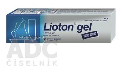 Lioton gel 100 000 gel (tuba Al) 1x50 g