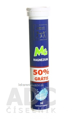 Zdrovit MAGNEZIUM 50% grátis tbl eff (šumivé tablety) 1x20 ks