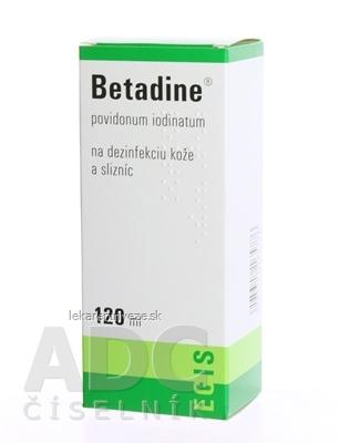 Betadine dezinfekčný roztok 100 mg/ml sol der (fľ.plast.) 1x120 ml