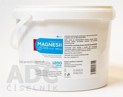MAGNESII LACTAS VULM 500 mg tbl (vrecko PE-klinické balenie) 1x1200 ks