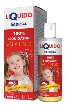 LiQuido RADICAL pri výskyte vší a hníd 125 ml + (hrebienok a čiapka zadarmo), 1x1 set