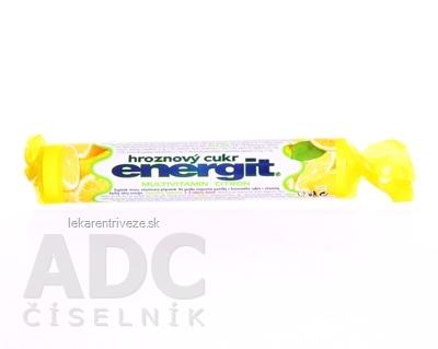 Energit hroznový cukor MULTIVITAMÍN, Citrón pastilky 1x17 ks (37,4 g)