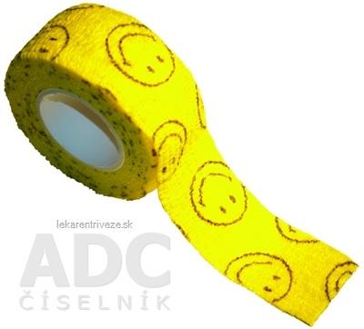 MEDIC Bandáž Finger Smajlík 2,5cm x 4,5m, náplasť elastická (rýchloobväz), 1x1 ks