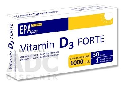 ALFA VITA Vitamin D3 FORTE 1000 I.U. EPAplus tbl 1x30 ks