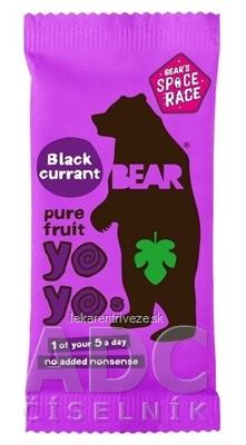 BEAR Čierne ríbezle yoyo (Black currant pure fruit) ovocné rolky 1x20 g